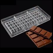 Forma Policarbonato Para Chocolate 27x13x2.5cm