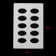 Molde Silicone Para Arabescos Oval 23 X 15 Cm Frete Grátis