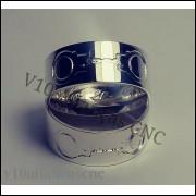 Par De Alianças Em prata 950 algemas do nosso amor