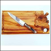 Tabua personalizada + faca
