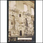 OP02 - Foto Postal Colombo, Ouro Preto, Interior da Igreja Nossa Senhora do Carmo.