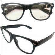 Armação para Oculos de Grau Unisex Preto