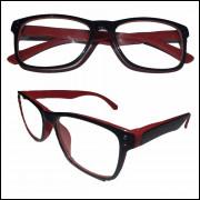 Armação para Oculos de Grau Unisex Vermelha Acetato