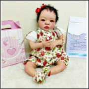 Bebê Reborn Barata Realista - Pronta Entrega - cabelo cacheado